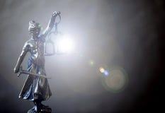 Statue de justice, concept de loi, image stock