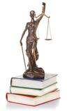 Statue de justice d'isolement Photo stock
