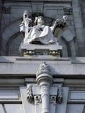 Statue de justice de tribunal Photos stock