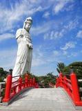 Statue de Kannon dans Byakui Daikannon Jigen-dans le temple, Takasaki Image stock