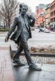 Statue de Kevin Hagan chez Faneuil Hall à Boston Image libre de droits
