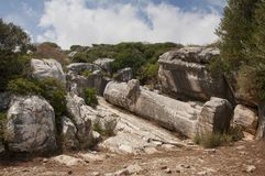 Statue de Kouros de Naxos Images libres de droits