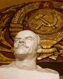 Statue de Lénine à Moscou au fond Photo libre de droits