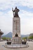 Statue de l'amiral Yi Sun-Shin à Séoul Images libres de droits