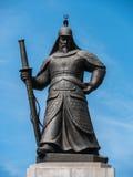 Statue de l'amiral Yi Sun-Sin Images libres de droits