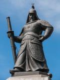 Statue de l'amiral Yi Sun-Sin Images stock