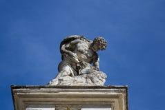 Statue de l'homme avec le lion Photographie stock