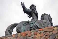 Statue de l'impératrice russe Elisaveta (Elizabeth) montant un cheval Photographie stock