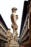 Statue de l'Italie Firenze Uffizi de David Images stock