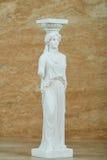 Statue de la cariatide, parthenon d'Acropole à Athènes images stock