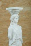 Statue de la cariatide, parthenon d'Acropole à Athènes images libres de droits