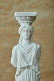 Statue de la cariatide, parthenon d'Acropole à Athènes image libre de droits