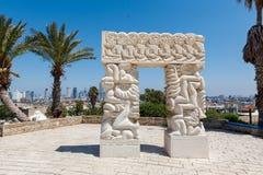 Statue de la foi en haut du parc d'Abrasha photo libre de droits