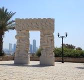 Statue de la foi vieux Jaffa - à Tel Aviv, Israël photos stock