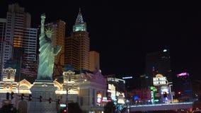 Statue de la liberté à Las Vegas banque de vidéos