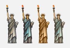 Statue de la liberté célèbre Symbole Etats-Unis d'Amérique Illustration de vecteur illustration de vecteur