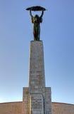 Statue de la liberté, côte de Gellert, Budapest, Hongrie Photo libre de droits