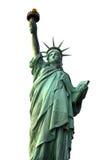 Statue de la liberté d'isolement sur le blanc, Etats-Unis Image libre de droits