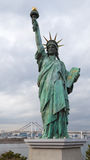 Statue de la liberté dans Odaiba image stock