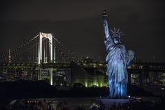 Statue de la liberté dans la région d'Odaiba, Tokyo photographie stock libre de droits