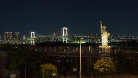Statue de la liberté sur la baie de Tokiiyskogo de bord de mer, Japon photos stock