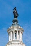 Statue de la liberté sur le bâtiment de capitol des USA à Washington, C.C Photos libres de droits