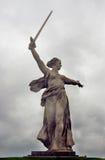 Statue de la mère patrie Front View Images libres de droits