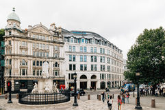 Statue de la Reine Anne à Londres Photo libre de droits