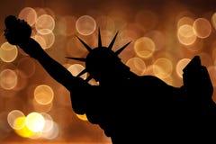 Statue de la silhouette NY de la liberté Photo libre de droits