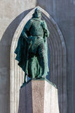 Statue de Leif Eriksson à Reykjavik, Islande Photo stock