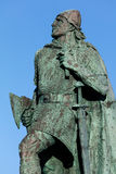 Statue de Leif Eriksson à Reykjavik, Islande Photographie stock libre de droits