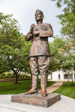 Statue de Lejeune à l'Académie Navale des Etats-Unis photographie stock libre de droits
