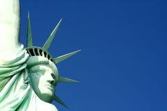 Statue de liberté de fin vers le haut Images libres de droits