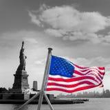 Statue de Liberty New York et de Manhattan Etats-Unis Images libres de droits
