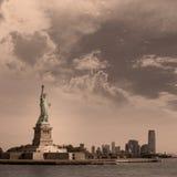 Statue de Liberty New York et de Manhattan Etats-Unis Photo stock
