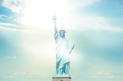 Statue de Liberty Sunny Sky illustration stock