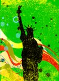 Statue de Libertyy Jazz Style Background Poster illustration stock