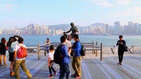 Statue de lie de Bruce à Hong Kong clips vidéos
