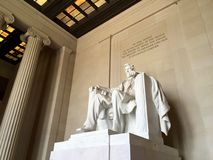 Statue de Lincoln dans DC de Washington Image stock