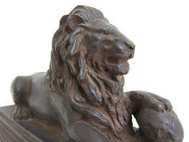 Statue de lion Photo stock