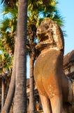 Statue de lion d'Angkor Image stock