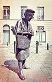 Statue de Madame Chapeau à Bruxelles Images libres de droits