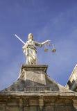 Statue de Madame Justice chez Dublin Castle à Dublin, Irlande Photo stock