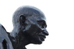 Statue de Mahatma Gandhi à la plage de Malpe image stock