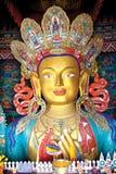 Statue de Maitreya Bouddha au monastère de Thiksey, Leh-Ladakh, Jammu-et-Cachemire, Inde Photos libres de droits