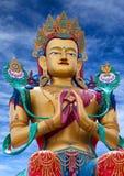 Statue de Maitreya Bouddha près de monastère de Diskit en vallée de Nubra, photos stock