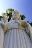 Statue de marbre blanche de Jésus Image stock