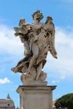Statue de marbre d'ange du Sant'Angelo Bridge Photos stock