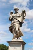 Statue de marbre d'ange du Sant'Angelo Bridge Photographie stock libre de droits