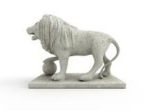 Statue de marbre d'un lion (vue gauche) Image stock